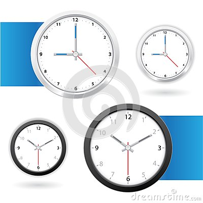 Clock back and white