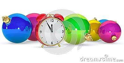 Clock with balls