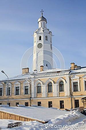 Clock an bell tower of Kremlin (The Detinets)