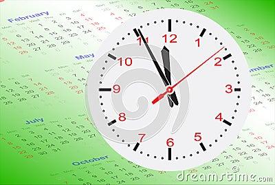 Clock on Calendar