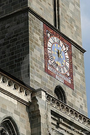 Clock church tower