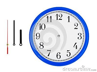 Clock and clock-hands