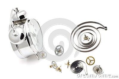 Clock with clockwork