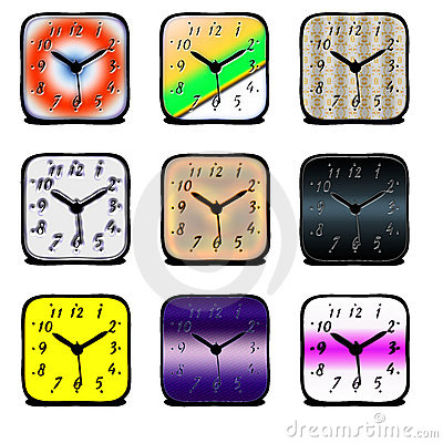 Clock colors