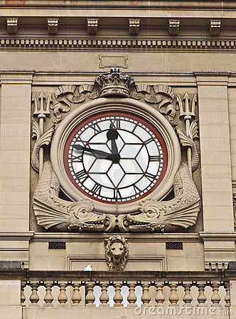 Clock - Detail of Sydney Customs House Building