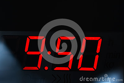 Clock display