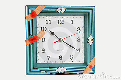 Clock face with bandages