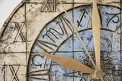 Clock face close-up
