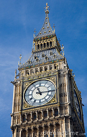 Free Clock Face From Big Ben Royalty Free Stock Photography - 1365087