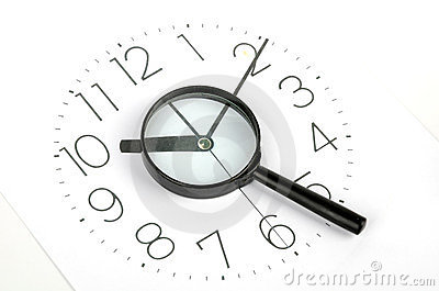 Clock face and magnifier