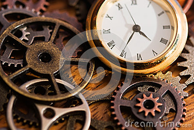Clock and Old Gears