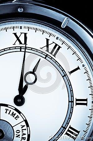 Clock face, watch closeup