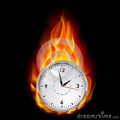 Clock in fire