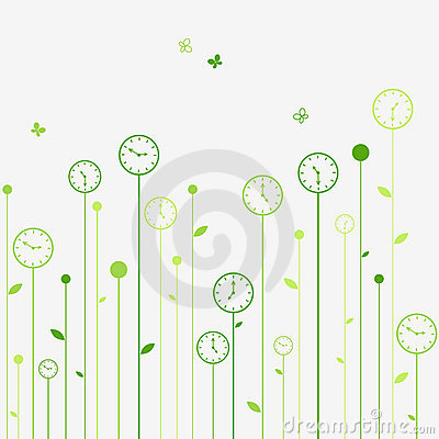 Free Clock Flowers Stock Photos - 10155083