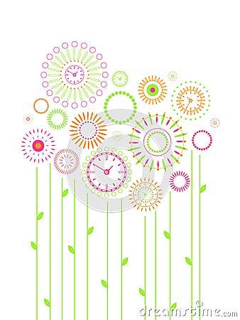Clock flowers