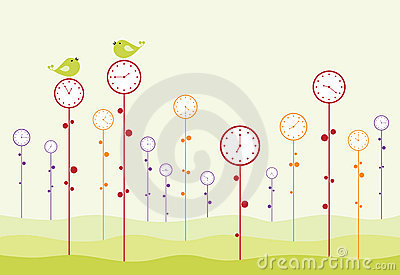 Clock garden