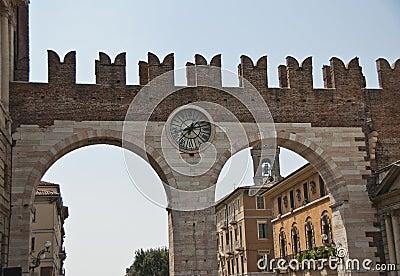 Clock gate, Verona, Italy