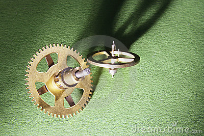 Clock Gear Wheels Stock Image - Image: 8093691