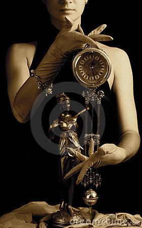 Clock and a girl