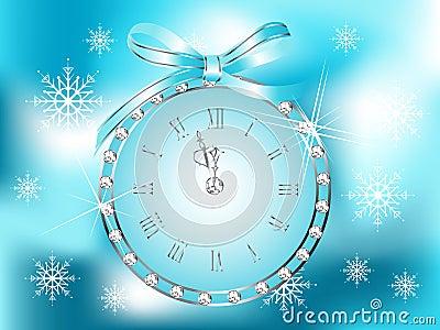 Clock in globe
