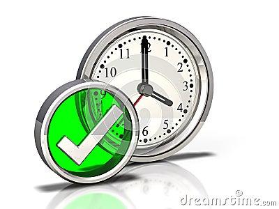 Clock Icon: Checkmark