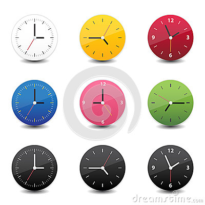 Clock icon color