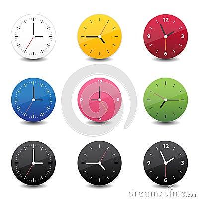 Clock icon color