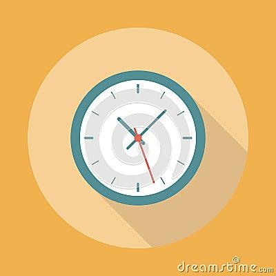 Free Clock Icon Flat Stock Photos - 52306983