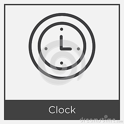 Free Clock Icon Isolated On White Background Royalty Free Stock Photo - 116054645
