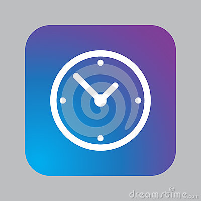 Free Clock Icon Vector Isolated On Gray. Royalty Free Stock Photos - 94113908