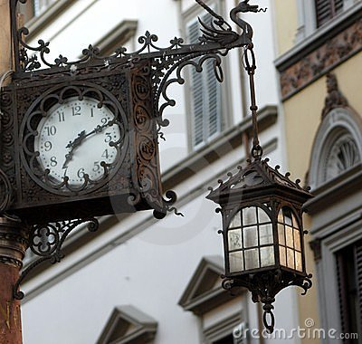 Clock and lamp