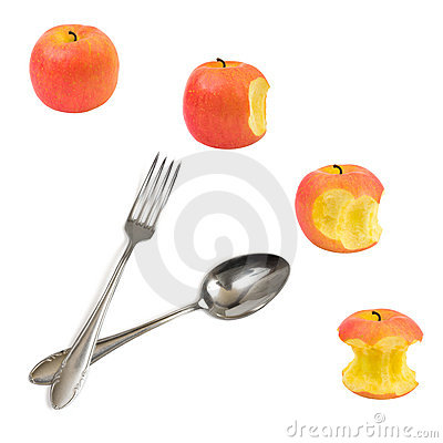 Free Clock Made Of Apples Stock Photography - 10823852