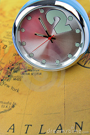Clock and map