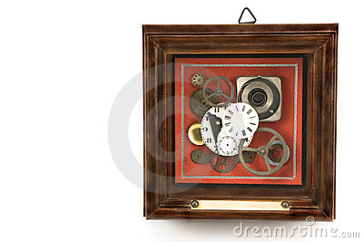 Clock mechanism in frame