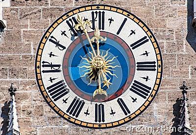 Clock New Town Hall Munich Germany