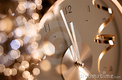 Clock on new year s eve