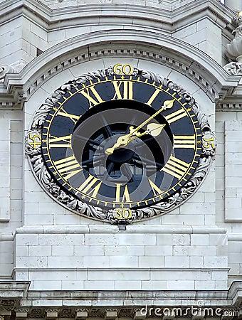 Free Clock On A Church Stock Photos - 658463