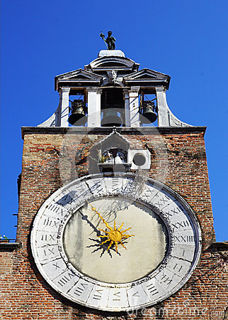 Free Clock On The Church Of San Giacomo Di Rialto In Venice, Italy Royalty Free Stock Photography - 36358197