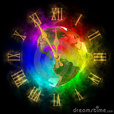 Clock - optimistic future on Earth - America