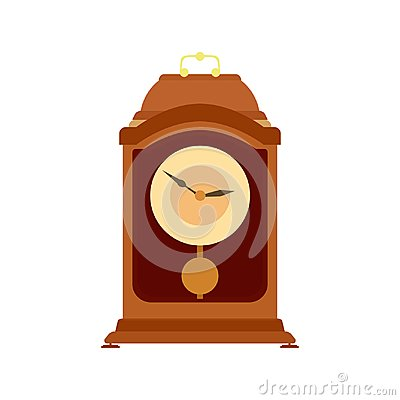 Free Clock Pendulum Vector Old Grandfather Antique Illustration Time Wall Royalty Free Stock Image - 109516816