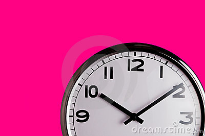 Clock on pink detail