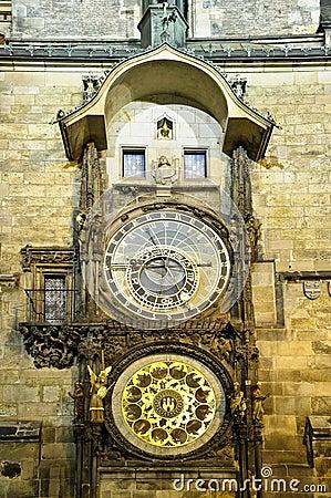 Clock in Prague (Praha)