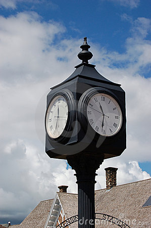 Clock at a rail station