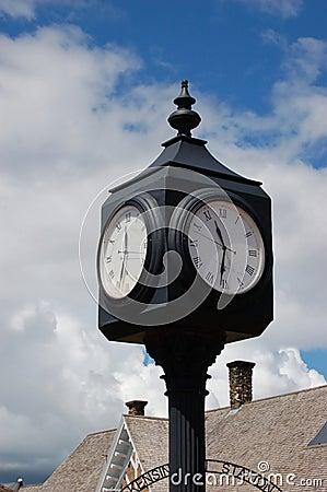 Clock at a rail station