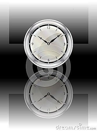 Clock reflected