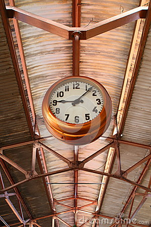 Clock on A Roof