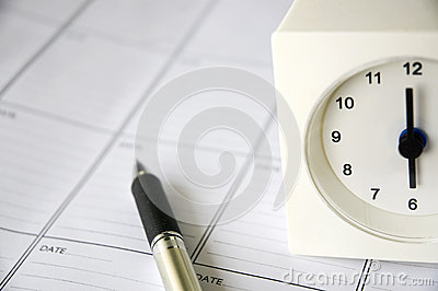 Clock on schedule planner