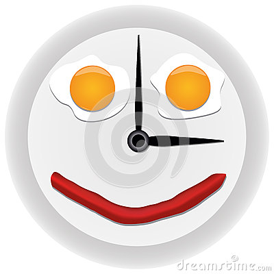 Clock with scrambled eggs