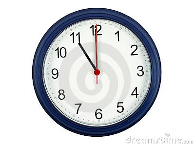 Clock showing 11 o clock