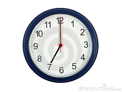 Clock showing 7 o clock
